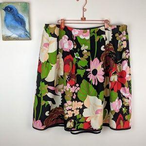 Talbots floral A Line silk skirt, size 22 petite